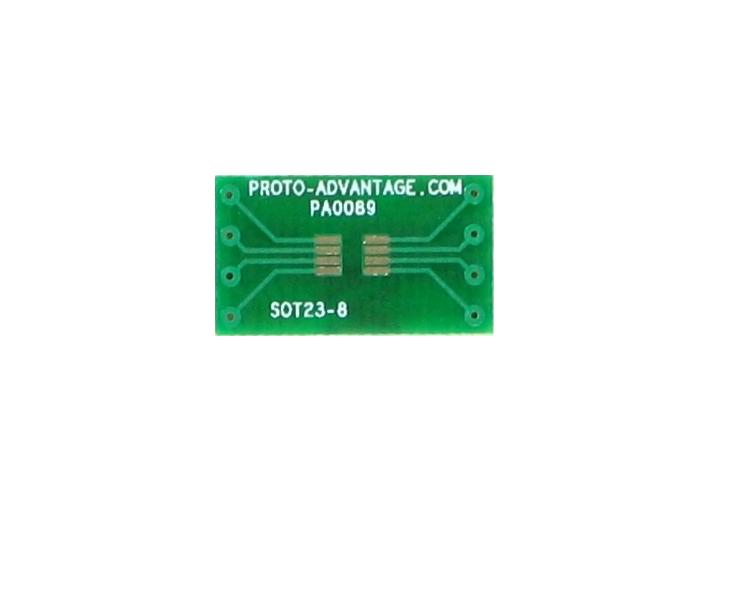 SOT23-8/TSOT-8 to DIP-8 SMT Adapter (0.65 mm pitch) 2