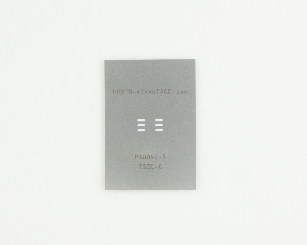 TSOC-6 (1.27 mm / 50 mil pitch) Stainless Steel Stencil 0