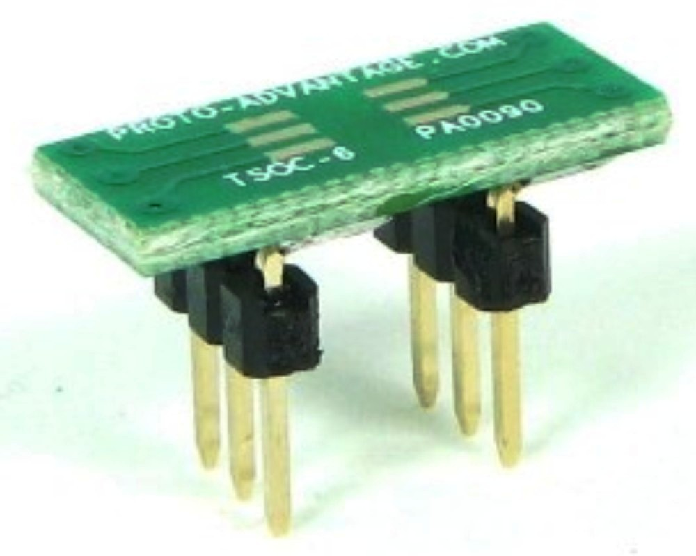 TSOC-6 to DIP-6 SMT Adapter (1.27 mm / 50 mil pitch) 0