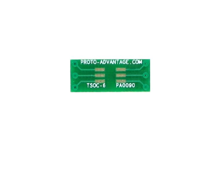 TSOC-6 to DIP-6 SMT Adapter (1.27 mm / 50 mil pitch) 2