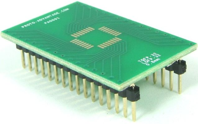 QFP-32 (0.8 mm pitch, 7 x 7 mm body) 0