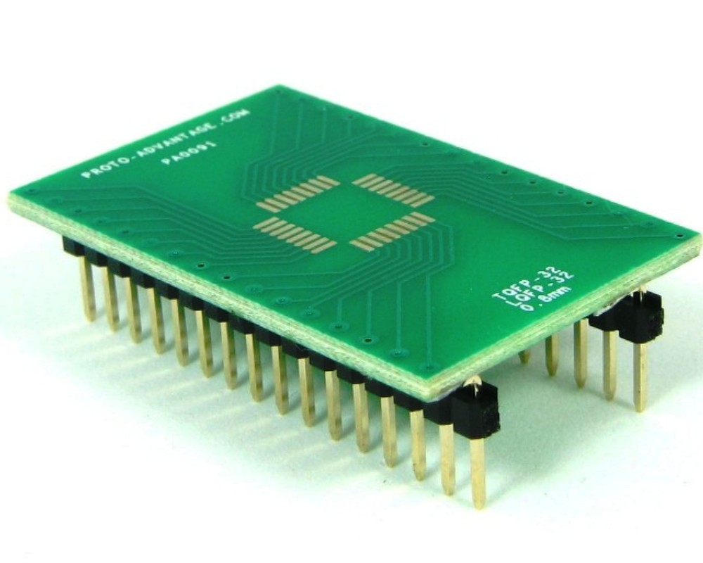 TQFP-32 to DIP-32 SMT Adapter (0.8 mm pitch, 7 x 7 mm body) 0