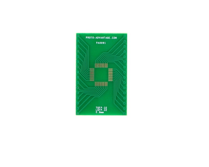 TQFP-32 to DIP-32 SMT Adapter (0.8 mm pitch, 7 x 7 mm body) 2