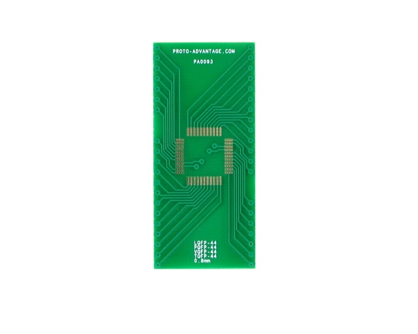 VQFP-44 to DIP-44 SMT Adapter (0.8 mm pitch, 10 x 10 mm body) 2