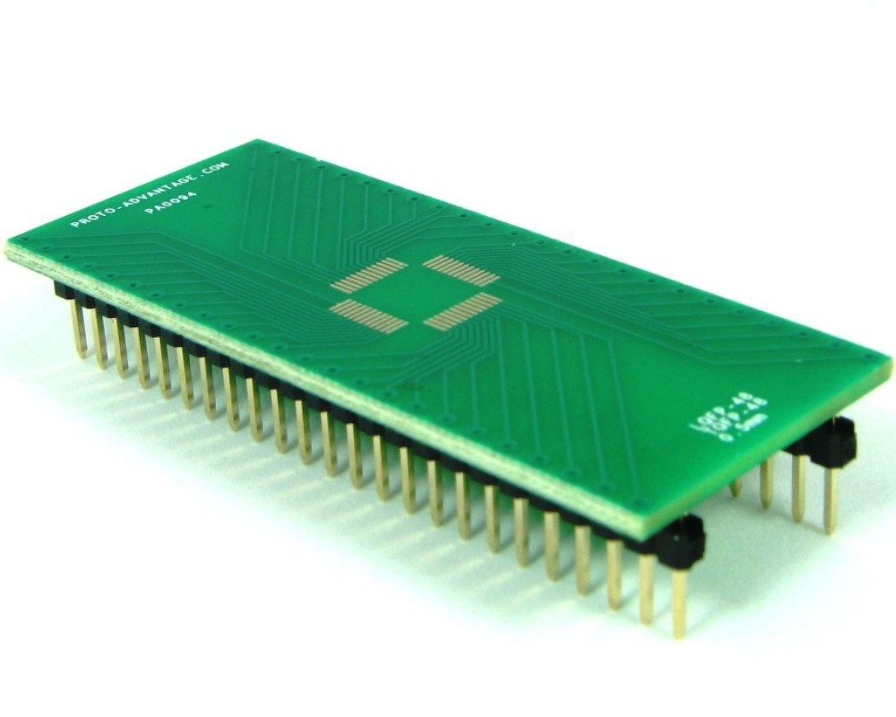 TQFP-48 to DIP-48 SMT Adapter (0.5 mm pitch, 7 x 7 mm body) 0