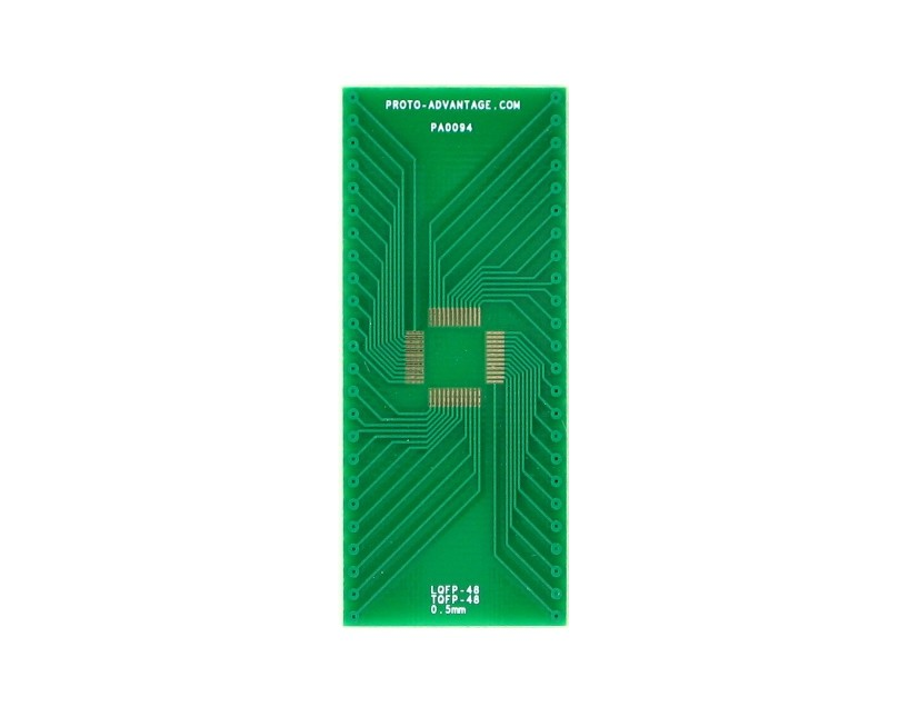 LQFP-48 to DIP-48 SMT Adapter (0.5 mm pitch, 7 x 7 mm body) 2