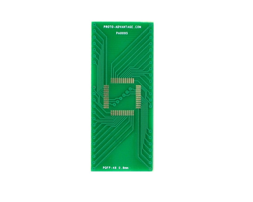 PQFP-48 to DIP-48 SMT Adapter (0.8 mm pitch) 2