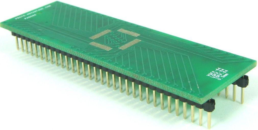 QFP-64 (0.5 mm pitch, 10 x 10 mm body) 0