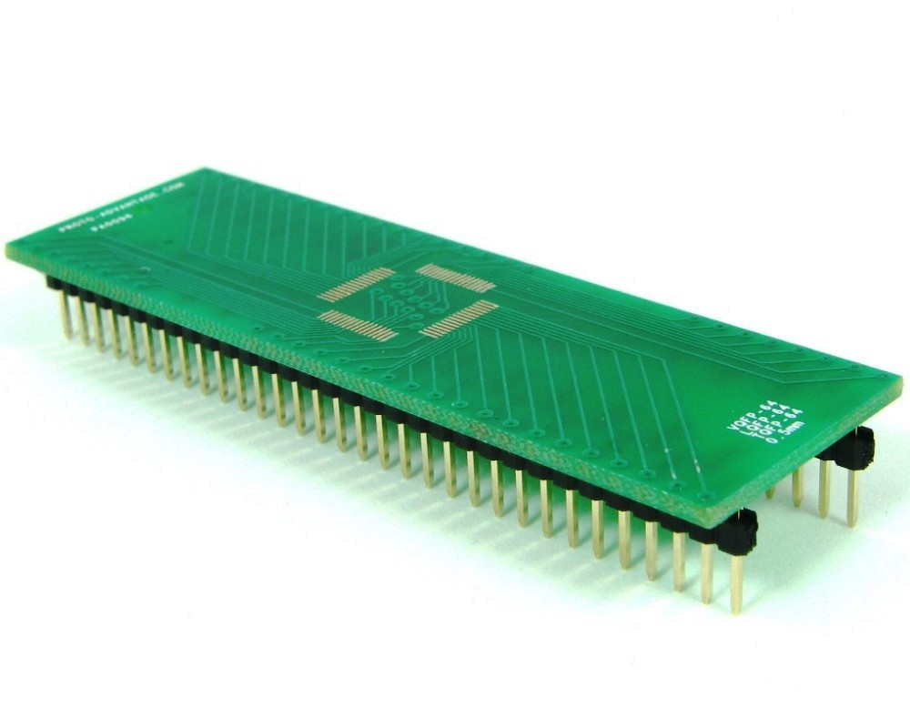 TQFP-64 to DIP-64 SMT Adapter (0.5 mm pitch, 10 x 10 mm body) 0