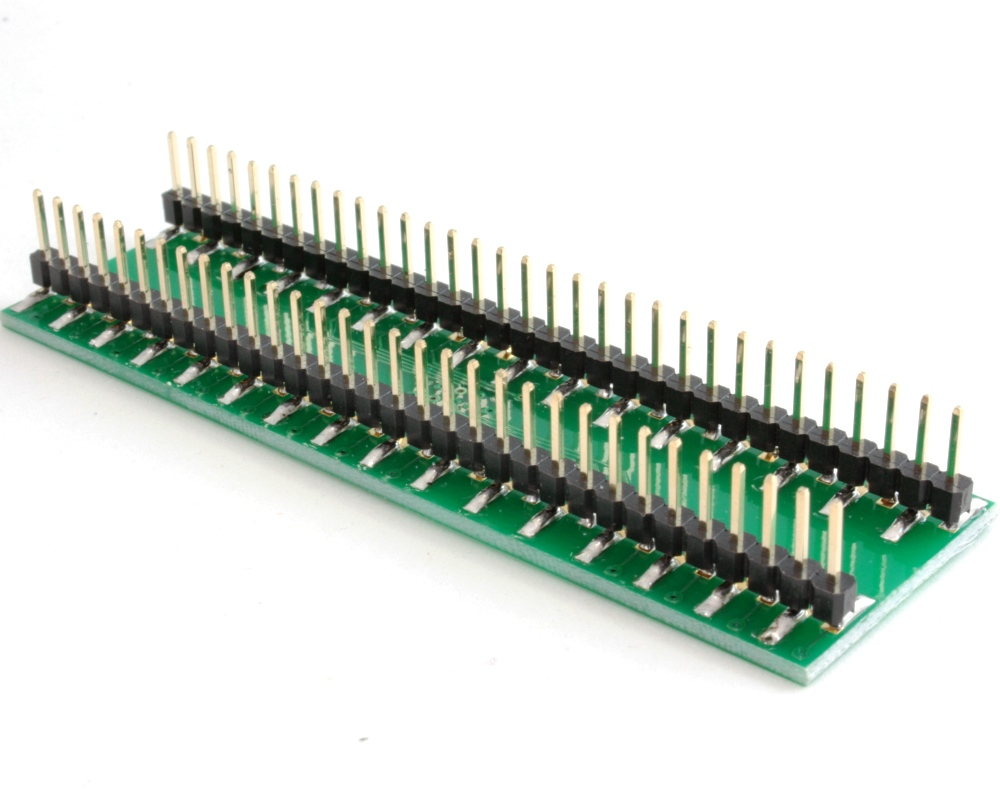TQFP-64 to DIP-64 SMT Adapter (0.5 mm pitch, 10 x 10 mm body) 1