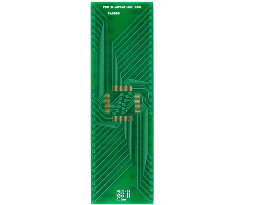 TQFP-64 to DIP-64 SMT Adapter (0.5 mm pitch, 10 x 10 mm body) 2