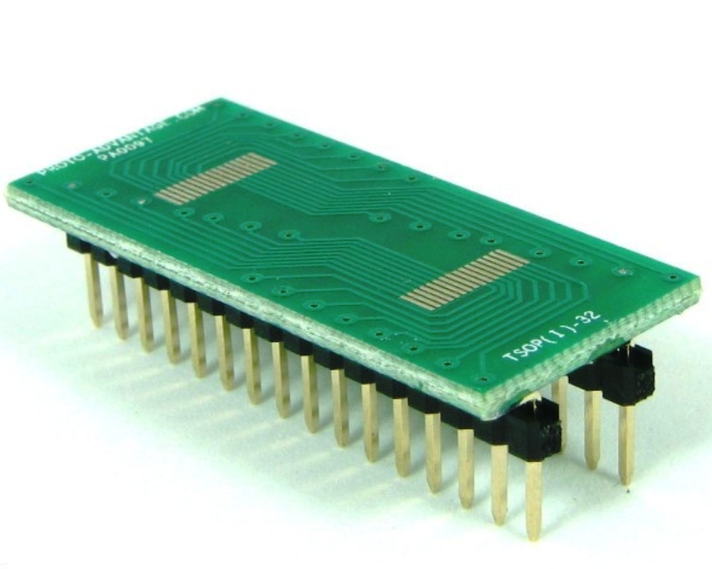 TSOP-32 (I) to DIP-32 SMT Adapter (0.5 mm pitch, 16-22 mm body) 0