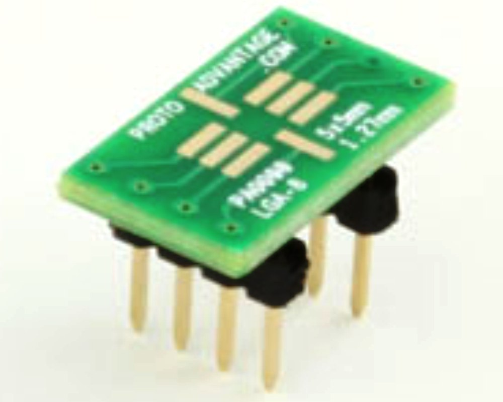LGA-8 to DIP-8 SMT Adapter (1.27 mm pitch, 5 x 5 mm body) 0