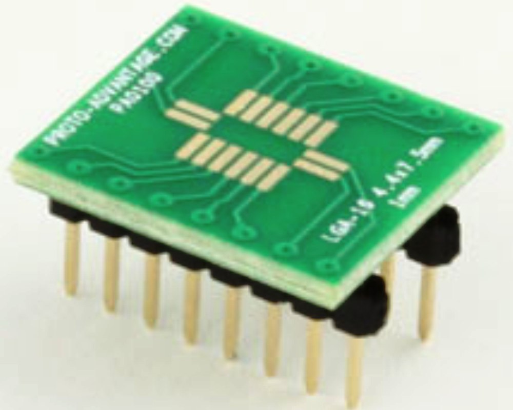 LGA-16 to DIP-16 SMT Adapter (1 mm pitch, 4.4 x 7.5 mm body) 0