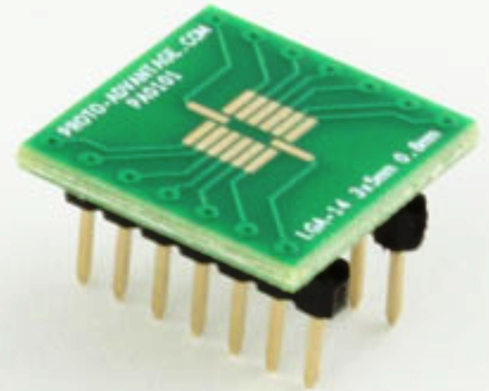 LGA-14 to DIP-14 SMT Adapter (0.8 mm pitch, 3 x 5 mm body) 0