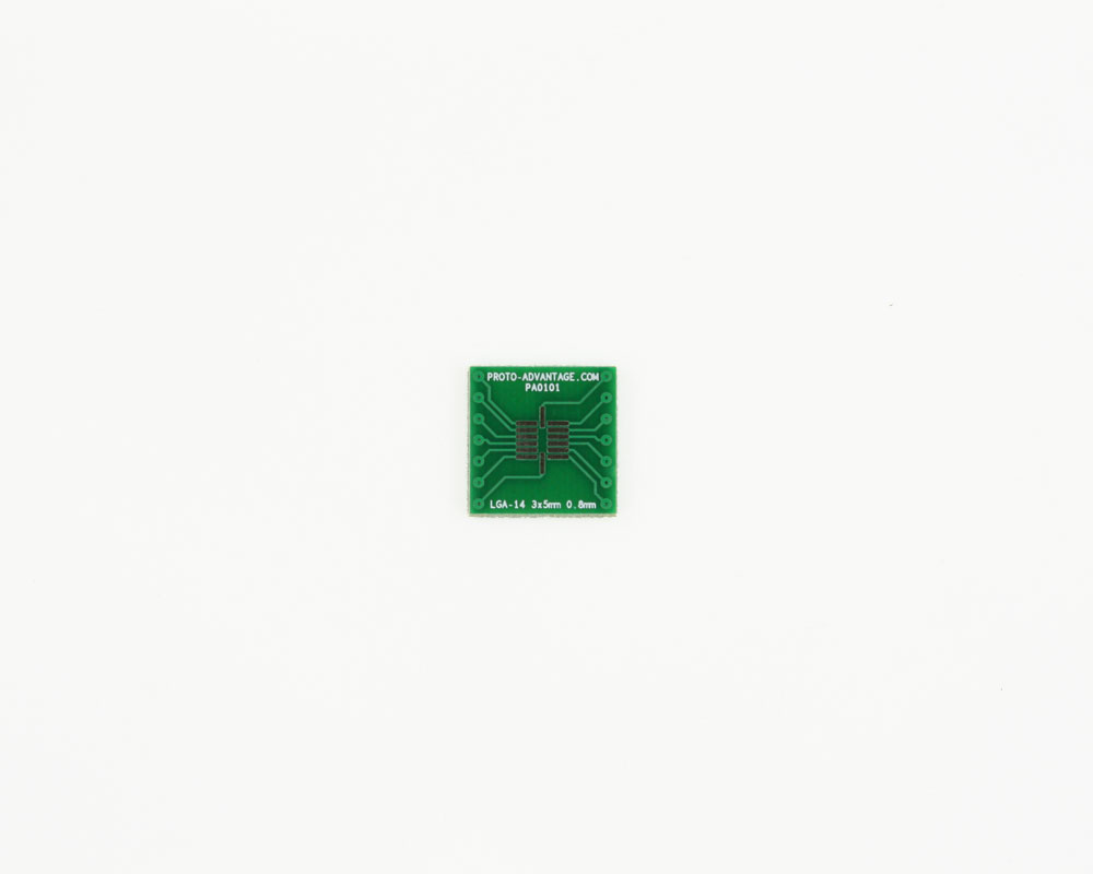 LGA-14 to DIP-14 SMT Adapter (0.8 mm pitch, 3 x 5 mm body) 2