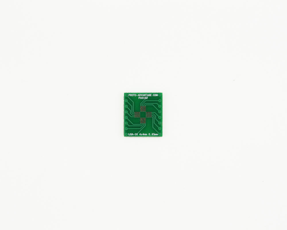LGA-16 to DIP-16 SMT Adapter (0.65 mm pitch, 4 x 4 mm body) 2