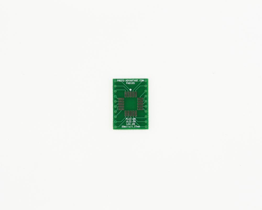 JLCC-20 to DIP-20 SMT Adapter (50 mils / 1.27 mm pitch) 2