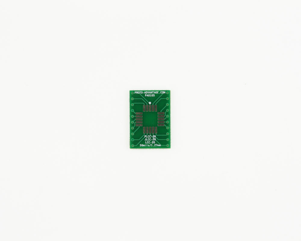 PLCC-20 to DIP-20 SMT Adapter (50 mils / 1.27 mm pitch) 2