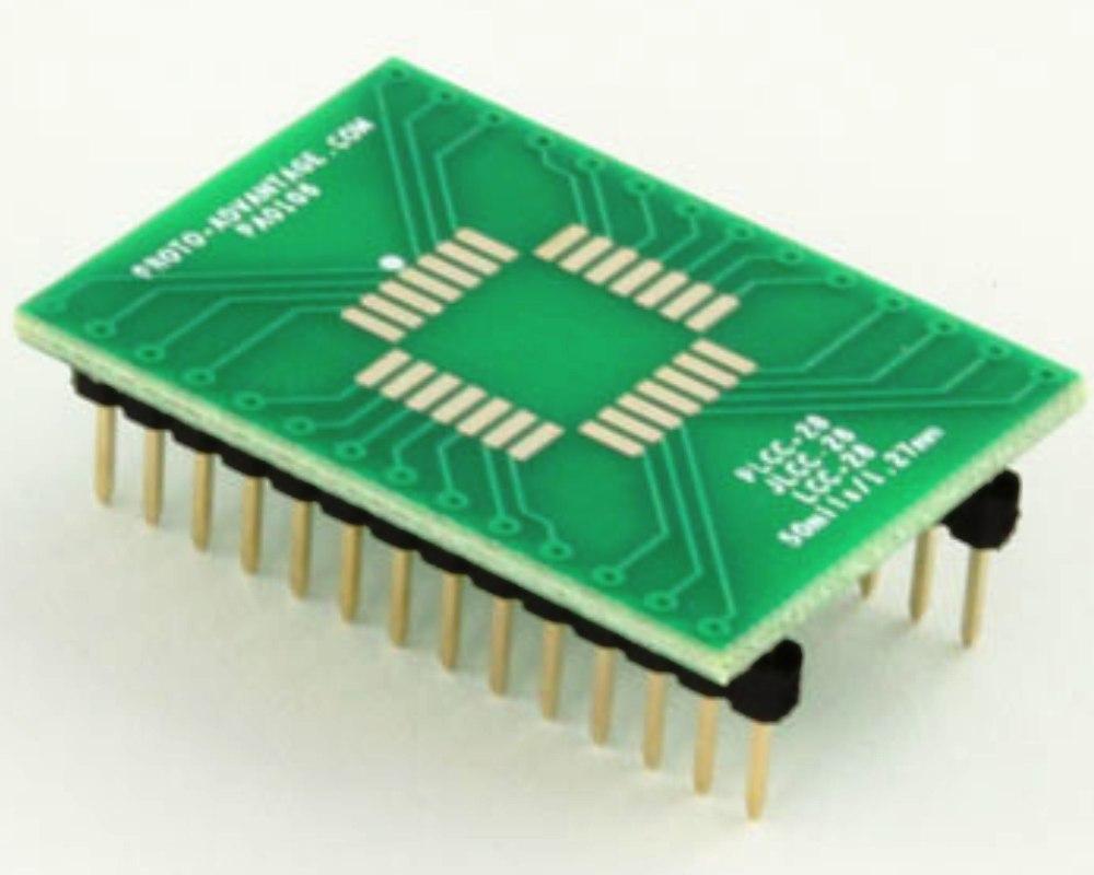 JLCC-28 to DIP-28 SMT Adapter (50 mils / 1.27 mm pitch) 0