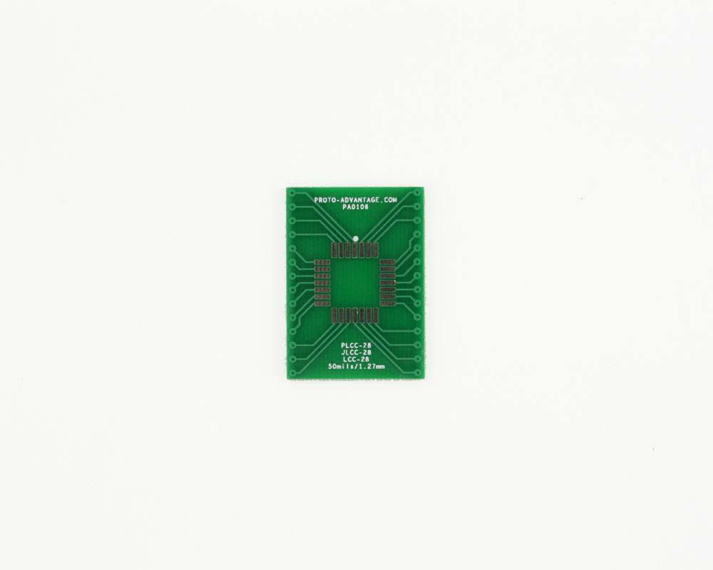 JLCC-28 to DIP-28 SMT Adapter (50 mils / 1.27 mm pitch) 2