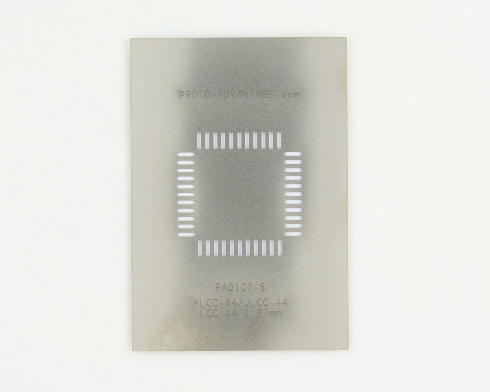PLCC-44 (50 mils / 1.27 mm pitch) Stainless Steel Stencil 0