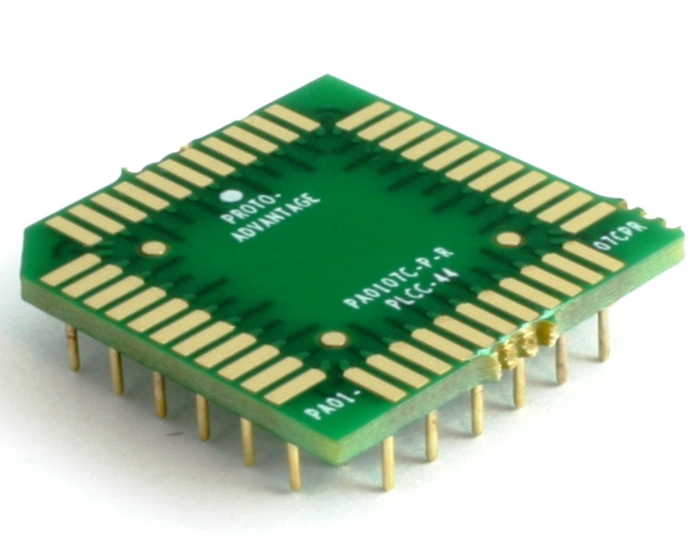 PLCC-44 to PGA-44 Pin 1 Out SMT Adapter (50 mils / 1.27 mm pitch) Compact Series 0