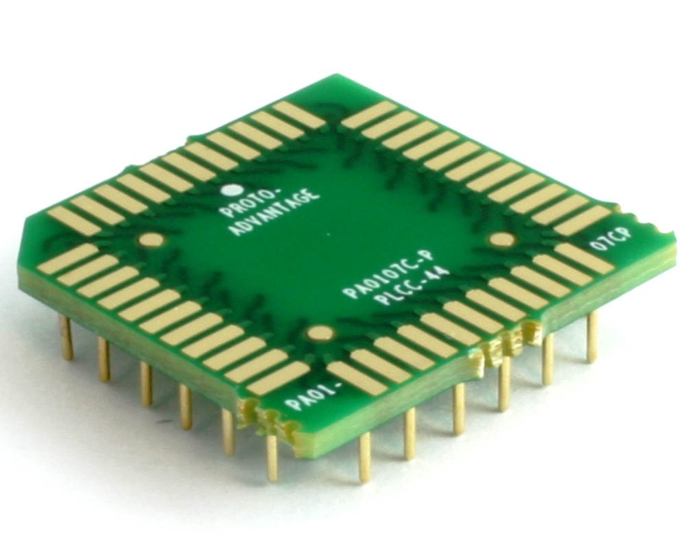 PLCC-44 to PGA-44 Pin 1 In SMT Adapter (50 mils / 1.27 mm pitch) Compact Series 0