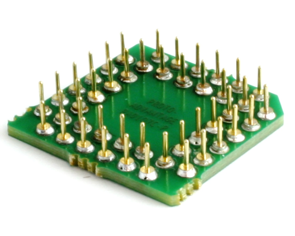 PLCC-44 to PGA-44 Pin 1 In SMT Adapter (50 mils / 1.27 mm pitch) Compact Series 1