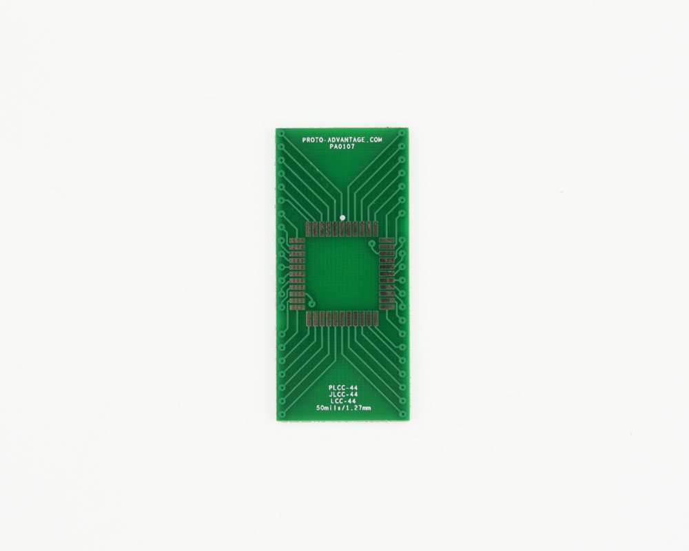 LCC-44 to DIP-44 SMT Adapter (50 mils / 1.27 mm pitch) 2