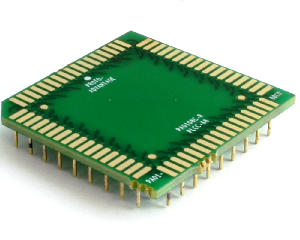 PLCC-68 to PGA-68 Pin 1 Out SMT Adapter (50 mils / 1.27 mm pitch) Compact Series 0