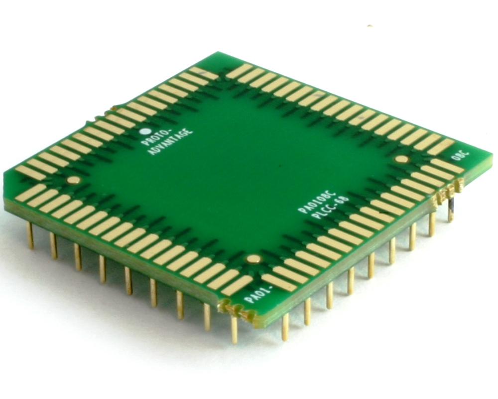 PLCC-68 to PGA-68 Pin 1 In SMT Adapter (50 mils / 1.27 mm pitch) Compact Series 0