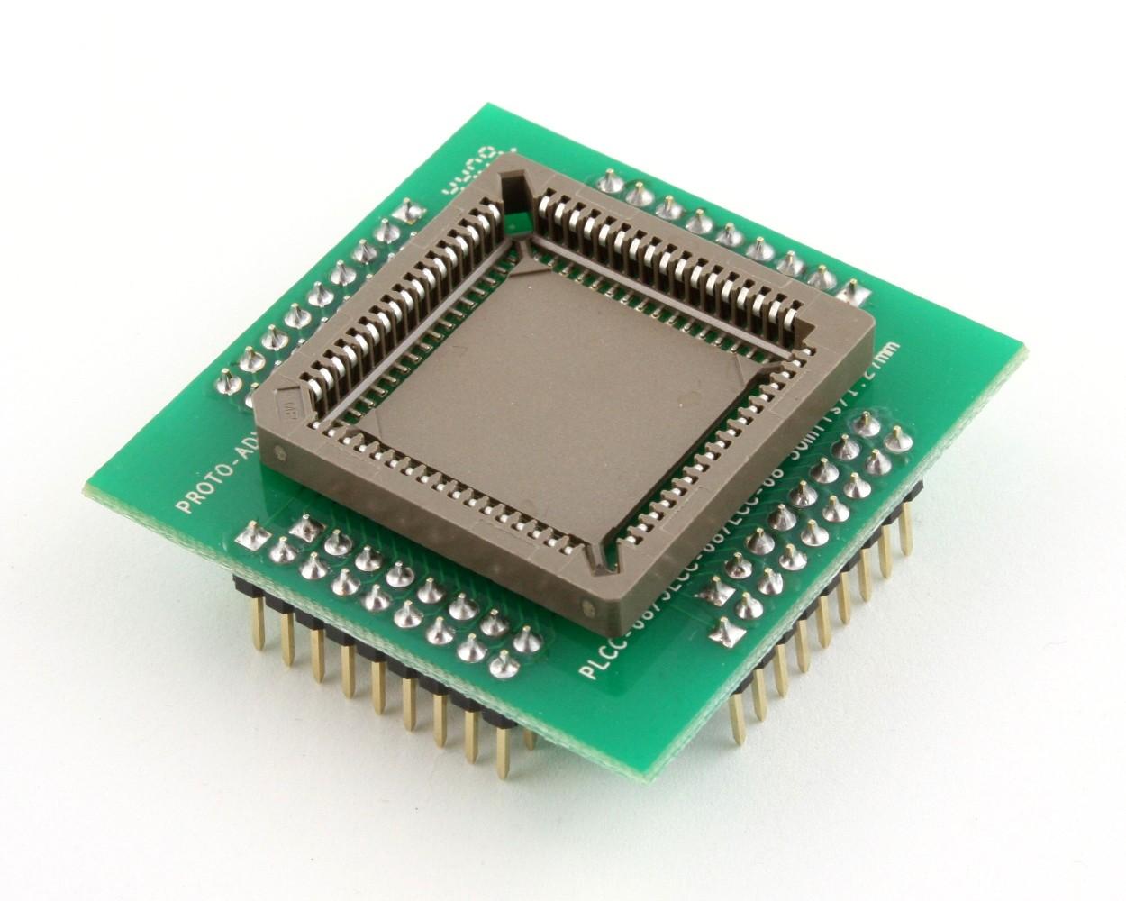 PLCC-68 Socket to PGA-68 Adapter (1.27 mm pitch, 25 x 25 mm body 0