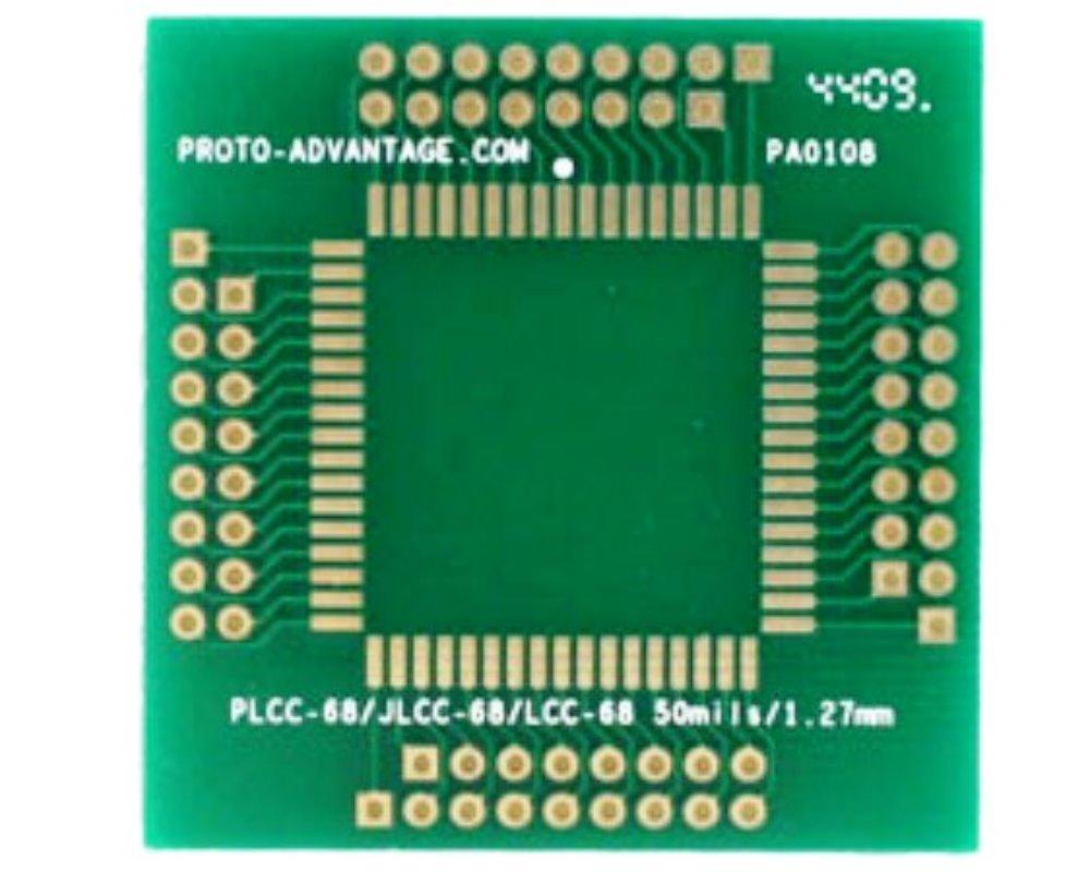JLCC-68 to PGA-68 SMT Adapter (1.27 mm pitch, 25 x 25 mm body) 0