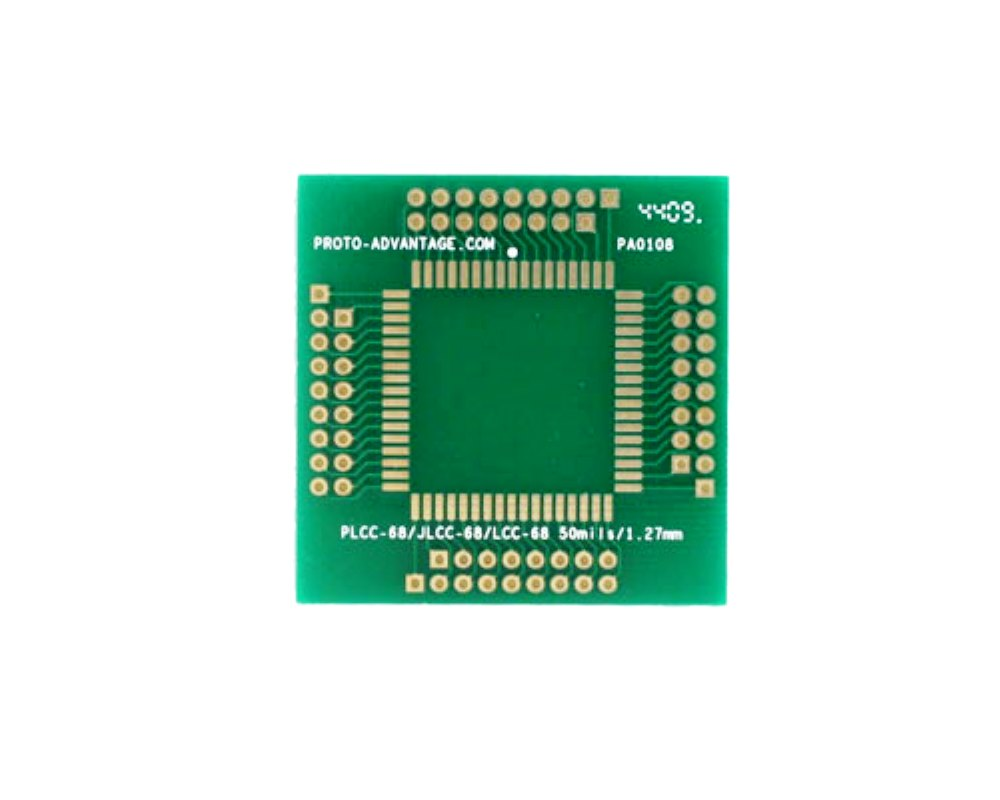 PLCC-68 to PGA-68 SMT Adapter (1.27 mm pitch, 25 x 25 mm body) 0