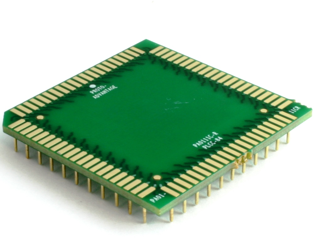 PLCC-84 to PGA-84 Pin 1 Out SMT Adapter (50 mils / 1.27 mm pitch) Compact Series 0
