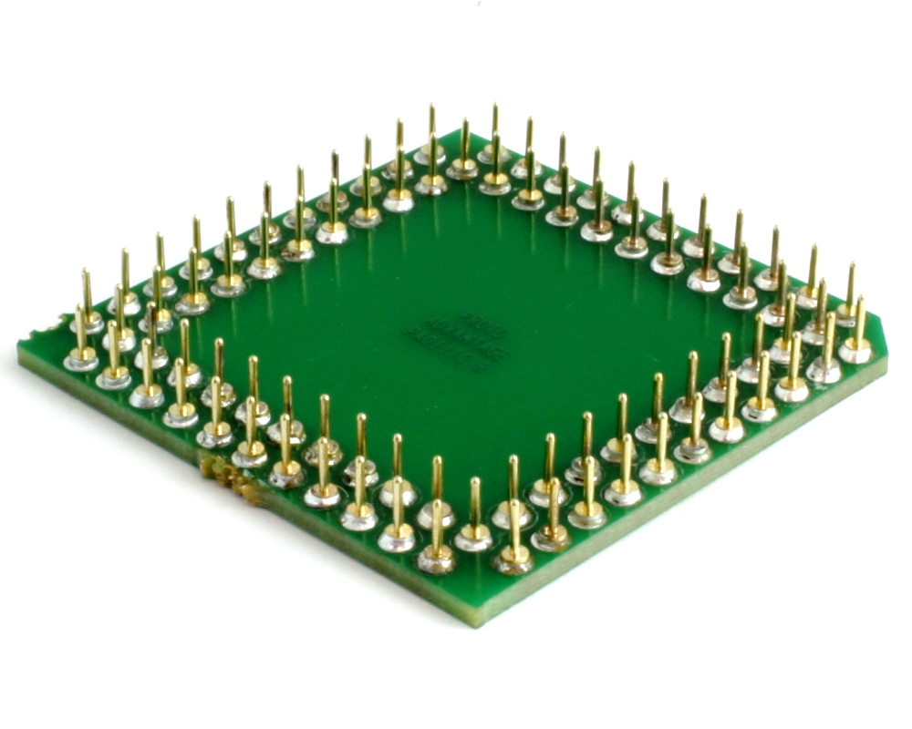 PLCC-84 to PGA-84 Pin 1 Out SMT Adapter (50 mils / 1.27 mm pitch) Compact Series 1