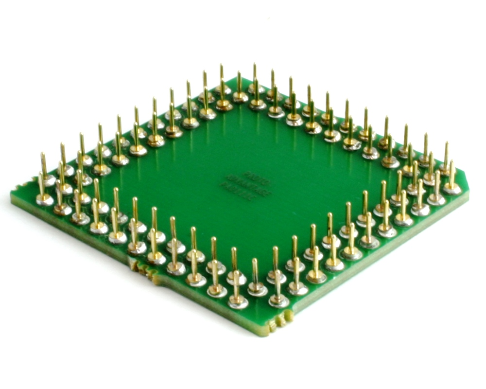 PLCC-84 to PGA-84 Pin 1 In SMT Adapter (50 mils / 1.27 mm pitch) Compact Series 1