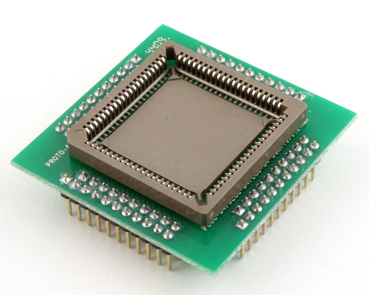 PLCC-84 Socket to PGA-84 Adapter (1.27 mm pitch, 30 x 30 mm body 0