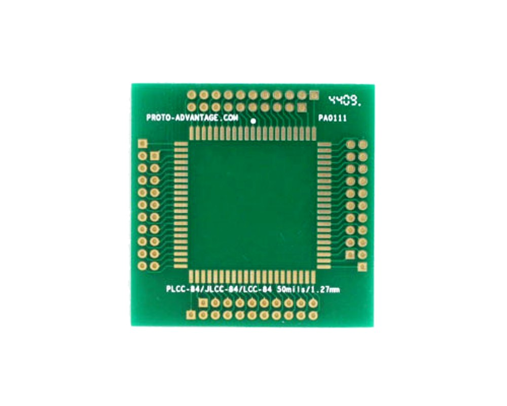 LCC-84 to PGA-84 SMT Adapter (1.27 mm pitch, 30 x 30 mm body) 0