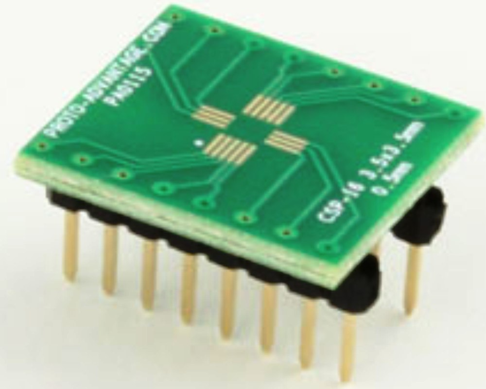 LFCSP-16 to DIP-16 SMT Adapter (0.5 mm pitch, 3.5 x 3.5 mm body) 0