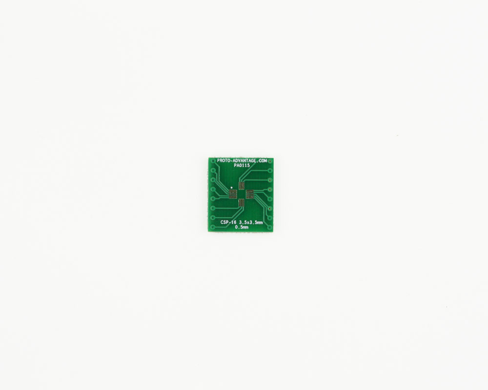 CSP-16 to DIP-16 SMT Adapter (0.5 mm pitch, 3.5 x 3.5 mm body) 2