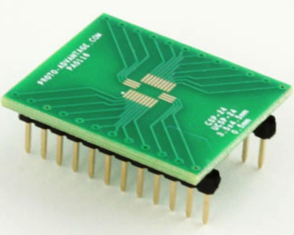 CSP-24 to DIP-24 SMT Adapter (0.5 mm pitch, 3.5 x 4.5 mm body) 0