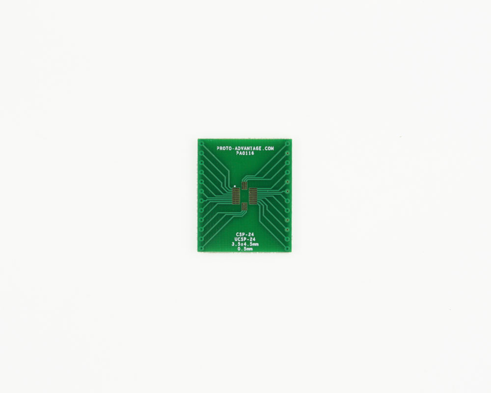 CSP-24 to DIP-24 SMT Adapter (0.5 mm pitch, 3.5 x 4.5 mm body) 2