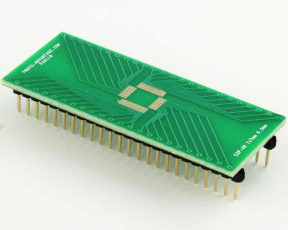 CSP-48 to DIP-48 SMT Adapter (0.5 mm pitch, 7 x 7 mm body) 0