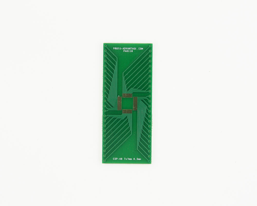 CSP-48 to DIP-48 SMT Adapter (0.5 mm pitch, 7 x 7 mm body) 2