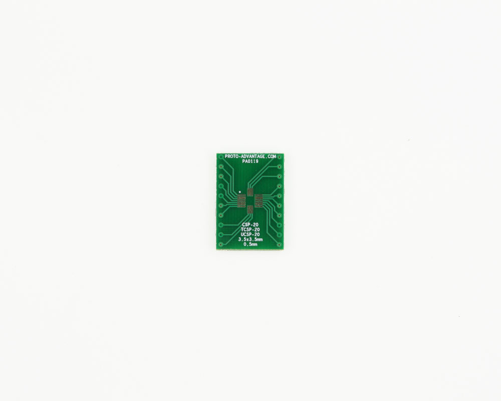 CSP-20 to DIP-20 SMT Adapter (0.5 mm pitch, 3.5 x 3.5 mm body) 2