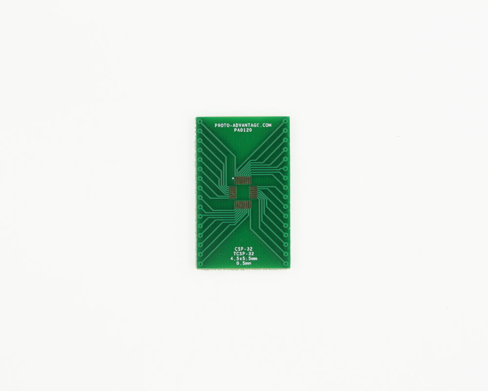CSP-32 to DIP-32 SMT Adapter (0.5 mm pitch, 4.5 x 5.5 mm body) 2