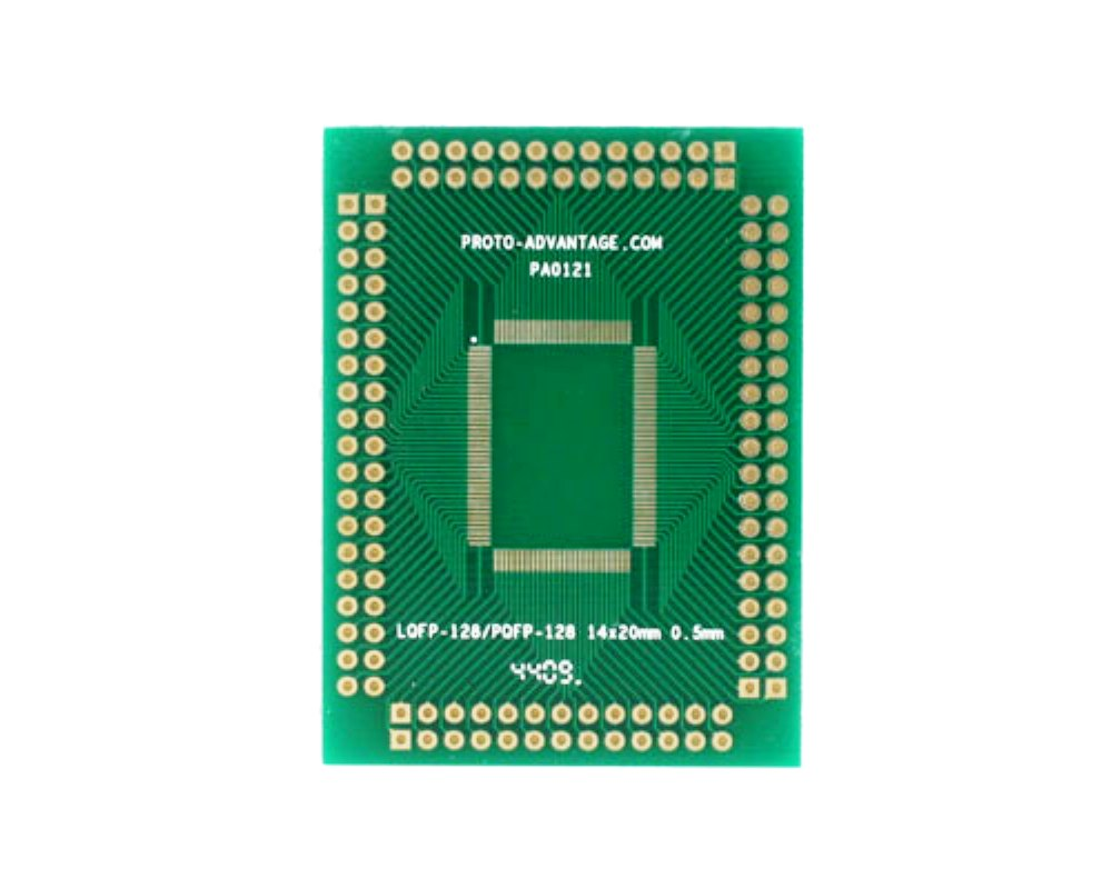 LQFP-128 to PGA-128 SMT Adapter (0.5 mm pitch, 14 x 20 mm body) 0