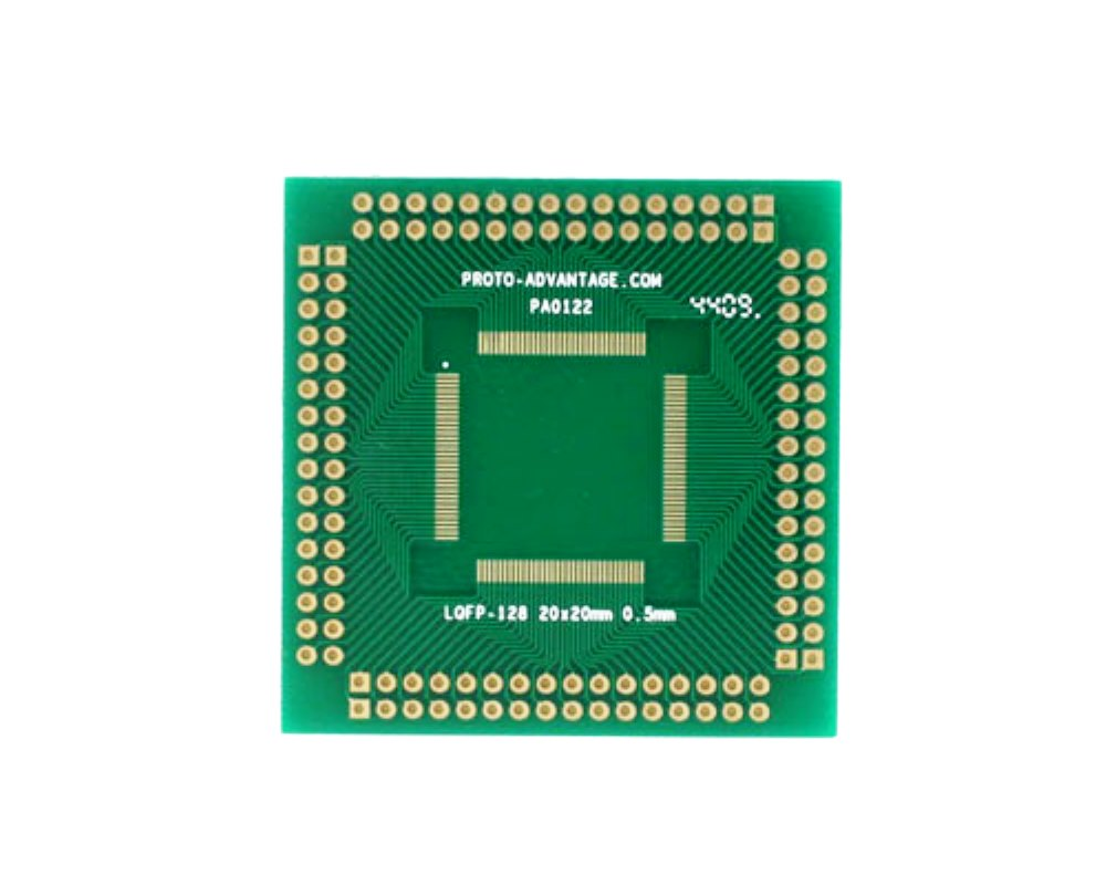 LQFP-128 to PGA-128 SMT Adapter (0.5 mm pitch, 20 x 20 mm body) 0